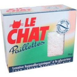 Le Chat savon en paillettes main/machine 1Kg