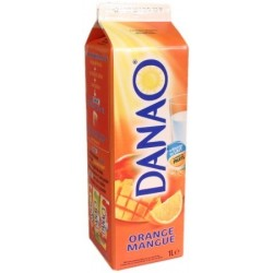 Danao au jus de fruit et au lait Orange/Mangue Danone 1L