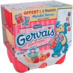 Mini Petits Gervais aux fruits 45%MG 18x50g  171kcal 900g