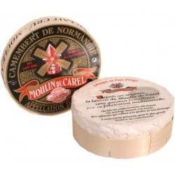 Camembert Moulin de Carel au lait cru 45%MG  A.O.C. 250g
