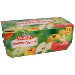 Compote pomme nature Andros 16x100g 1.6Kg