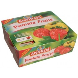 Compote pomme - fraise Andros 4x100g 400g