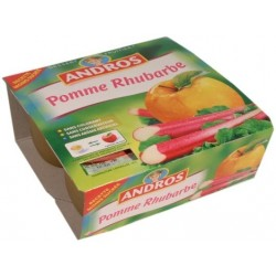 Compote pomme - rhubarbe Andros 4x100g 400g