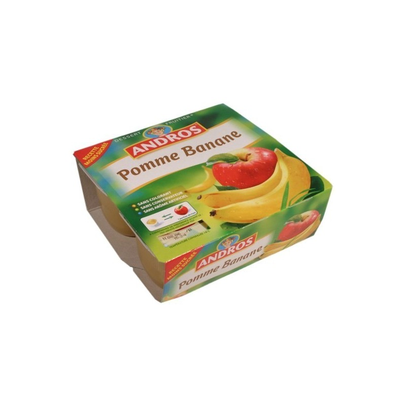 Compote pomme - banane Andros 4x100g 400g