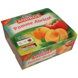 Compote pomme - abricot Andros 4x100g 400g