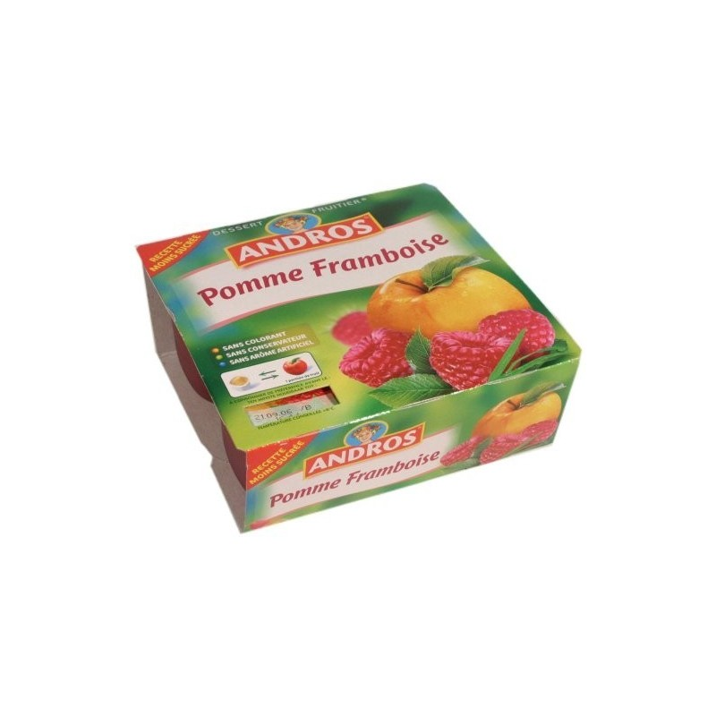 Compote pomme - framboise Andros 4x100g 400g