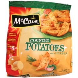 Country Potatoes - coupe rustique Mc Cain 700g