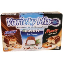 Variety Mix assortiment de mini barres glac