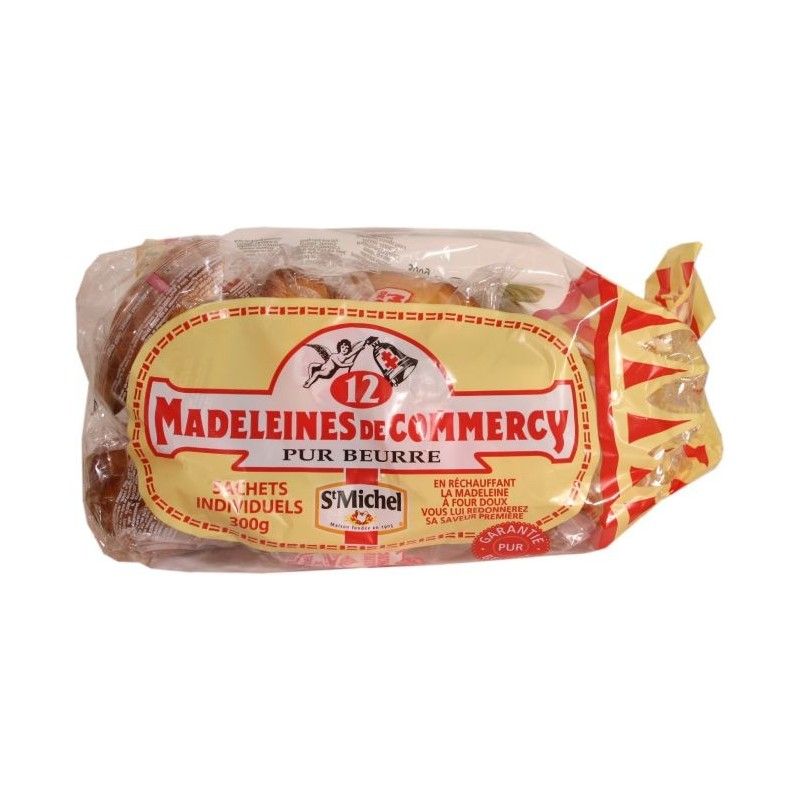 Madeleines pur beurre de Commercy - sachets individuels x12 300g