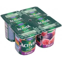 Activia Fruits Figues Danone 4x125g  104kcal 500g