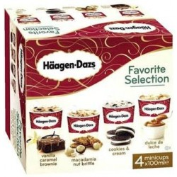 Favorite Selection (vanilla,macadamia,cookies,dulce leche) HD 4x100ml 400ml