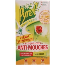 Pyrel Anti-Mouches - 6 coquelicots autocollants 6U