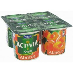 Activia Fruits Abricots Danone 4x125g 500g