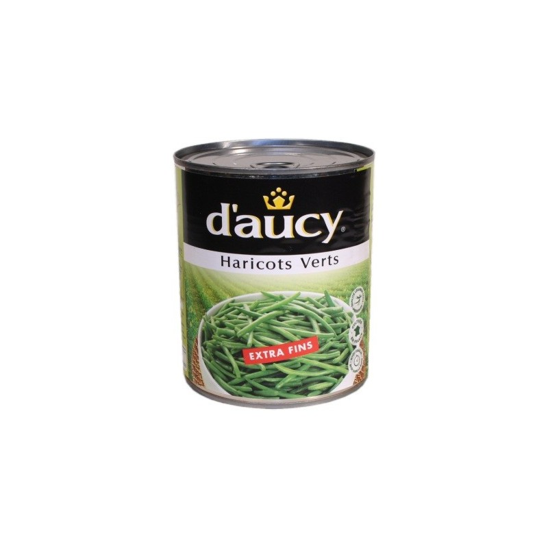 Haricots verts extra-fins D Aucy 800g