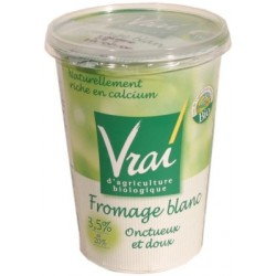 Fromage blanc Vrai 3,5%MG Label biologique AB 500g