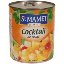 Cocktail de fruits au sirop St Mamet 850g