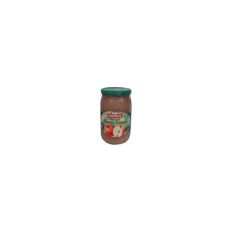 Dessert Compote Pomme Nature Andros - bocal 750g