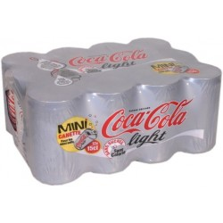Coca-Cola Light mini-canettes - 12x15cl 1.8L