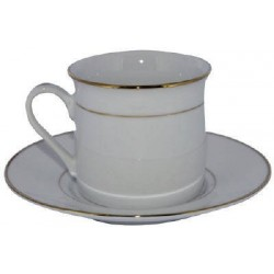 Tasses Filet Or porcelaine avec soucoupes 6U