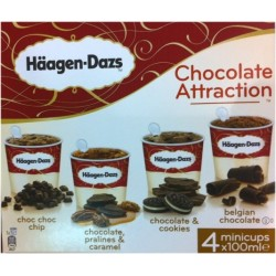 Chocolate Attraction (choc choc chip, chocolate & cookies.) HD 4x100ml 400ml