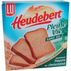 Biscottes sans sel Heudebert - 34 tranches 270g