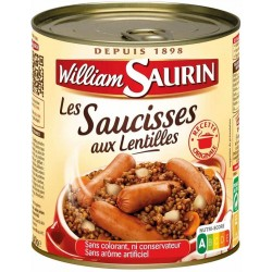 Saucisses lentilles William...